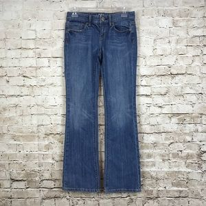 Loft Womens 25 0P Jeans Blue Denim Medium Wash
